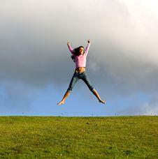 Free Happy Young Beautiful Girl. Stock Image - 2869371