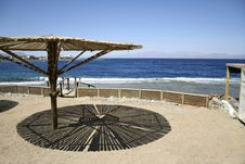 Free Parasol On Beach, Red Sea Stock Images - 2869804