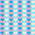 Free Lovely Small Hearts On Blue And Pink Royalty Free Stock Photography - 28601327