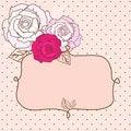 Free Retro Valentine Vignette With Roses Stock Photos - 28602163