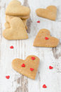 Free Cookie In The Form Of Heart On The Table Stock Image - 28602461