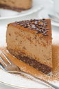 Free Piece Of Chocolate Cheesecake On A Plate Closeup Selective Focus Stock Photography - 28602562