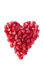 Free Pomegranate Seeds In Heart Shape Isolated Stock Images - 28602574
