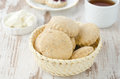 Free Scone Of Whole Wheat In A Wicker Basket Horizontal Stock Photography - 28602672