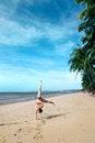 Free Cartwheels On The Beach Royalty Free Stock Photos - 28605818