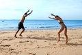 Free Cartwheels On The Beach Royalty Free Stock Photos - 28608918