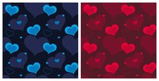 Free Valentine Hearts Seamless Pattern Royalty Free Stock Image - 28600356