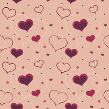 Free Valentine Hearts Seamless Pattern Stock Photo - 28600430