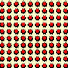 Free Retro Pattern Red And Black On Cream Seamless Stock Photo - 28601300