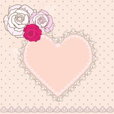 Free Retro Valentine Vignette Royalty Free Stock Photo - 28602175