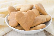 Free Heart Shaped Cookies In A Bowl Stock Images - 28602504