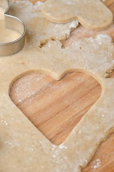 Free Hole In The Shape Of Heart In Cookie Dough Royalty Free Stock Photo - 28602525