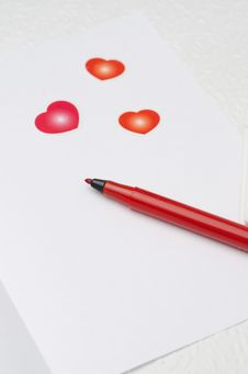 Free Unwritten Love Letter, Selective Focus On Pen Stock Images - 28602824