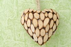 Free Wooden Heart Closeup Stock Photo - 28602850