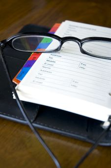 Free Eyeglasses On Organizer Royalty Free Stock Photo - 28604085