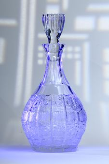 Free Decanter Blue Royalty Free Stock Photography - 28604867