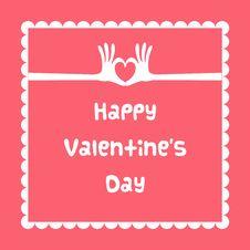 Happy Valentine S Day Card Stock Photo