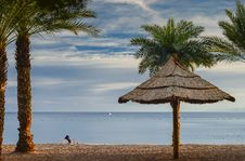 Free View On The Gulf Of Aqaba From Sandy Beach Of Eilat Royalty Free Stock Image - 28605466