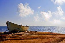Free Fishing Boat At Sea Royalty Free Stock Photography - 28607367