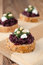 Free Beet Salad With Pesto And Goat Cheese On Toasted Grain Breads On Royalty Free Stock Photos - 28602368