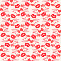 Free Seamless Love Pattern With Grunge Design. Stock Photos - 28610273