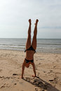 Free Handstand  On The Beach Stock Photos - 28612223