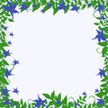 Free Frame With Blue Flowers Stock Photo - 28615130