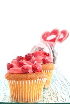 Free Valentine S Day Cupcakes Royalty Free Stock Photos - 28611418