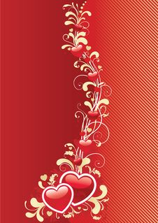 Free Abstract Valentine Background Royalty Free Stock Photography - 28613137