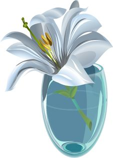 Free Lily In A Vase Stock Photo - 28614550