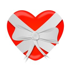 Free Heart Ribbon Bow St Valentines Day Royalty Free Stock Images - 28617379