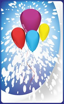 Free Postcard Balloons Royalty Free Stock Image - 28617966