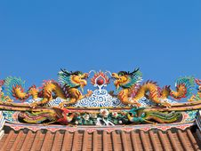 Twin Chinese Dragon Royalty Free Stock Photography