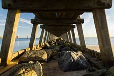 Free Under The Boardwalk Stock Photography - 28619442