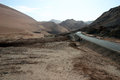 Free Road Through A Desert Valley,  China Stock Photography - 28623192