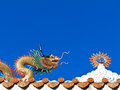 Free Chinese Dragon With Sun Sculpture Royalty Free Stock Photography - 28624237
