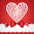 Free Bow And Lace Heart Stock Photo - 28627370