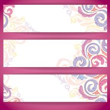 Set Of Colorful Banners. Royalty Free Stock Photos
