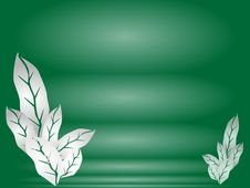 Free Illustration Of Leaves Of Green Background Template Royalty Free Stock Image - 28622306