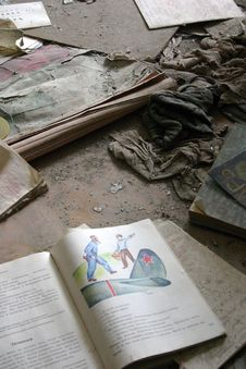 Free School Books In The Abandoned City Of Pripyat, Chernobyl Stock Photos - 28623143