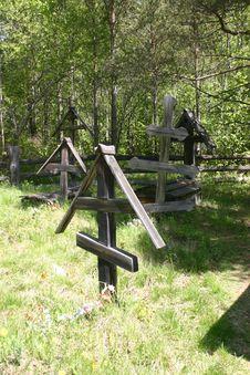 Free Siberian Graveyard, Russia Stock Photo - 28623170