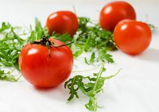 Free Tomatoes With Rucola Royalty Free Stock Images - 28625679