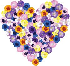 Free Bouquet Shaped Heart Stock Images - 28627314