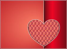 Free Valentine Heart Card Stock Images - 28629204