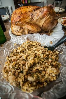 Thanksgiving Turkey Dinner Stock Photography