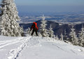 Free Skier Getting Down From The Mountain Stock Photography - 28632752