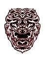 Free Tribal Monkey Head Illustration Stock Photos - 28633173
