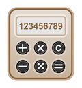 Free Brown Calculator. Royalty Free Stock Photos - 28635658