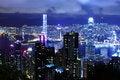 Free Hong Kong At Night Royalty Free Stock Photos - 28637428