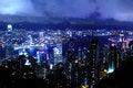 Free Hong Kong At Night Royalty Free Stock Images - 28637909